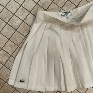 Lacoste XS White Tennis Pleated Skirt